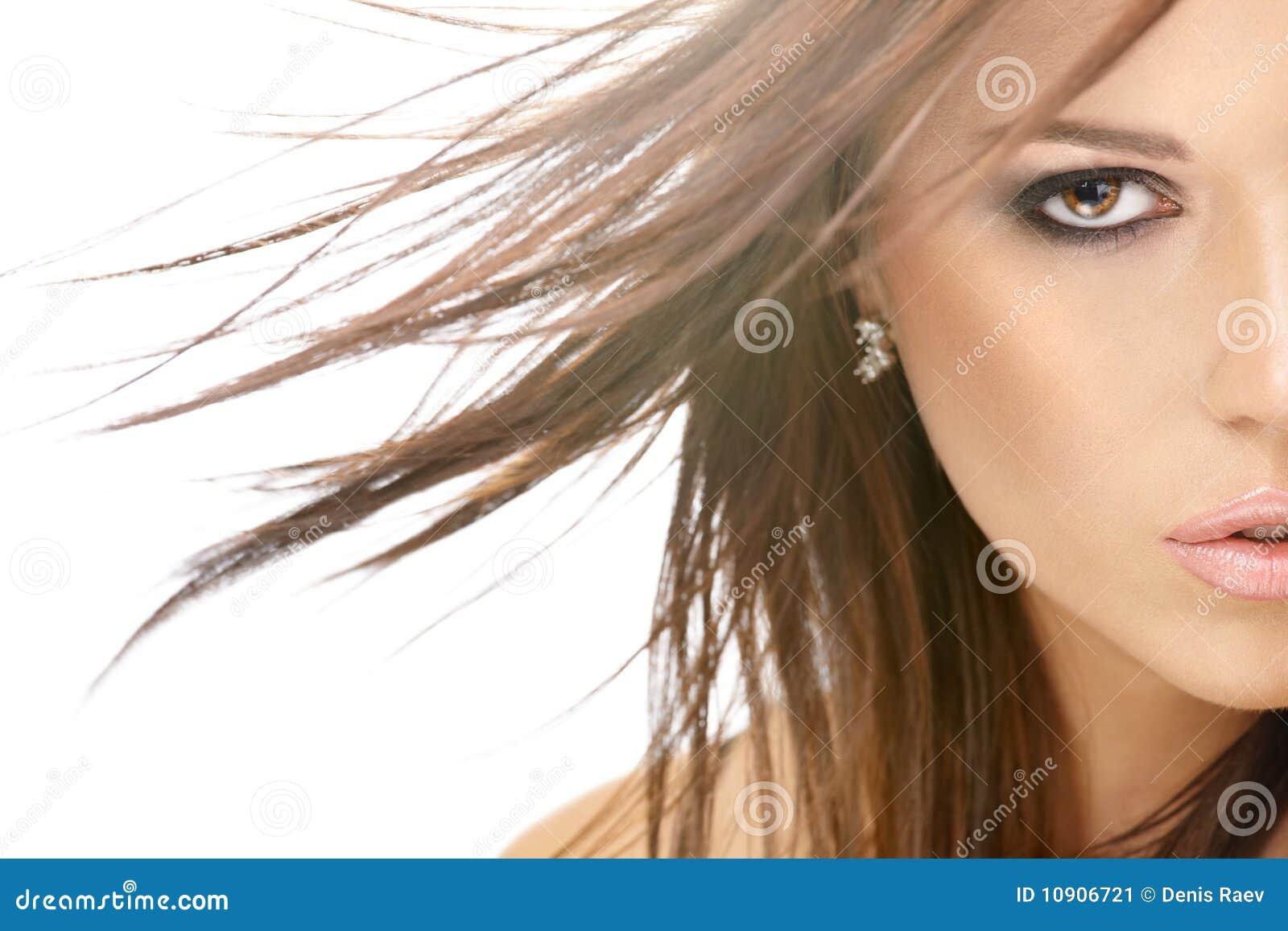 Flying Hair Stock Image Image 10906721