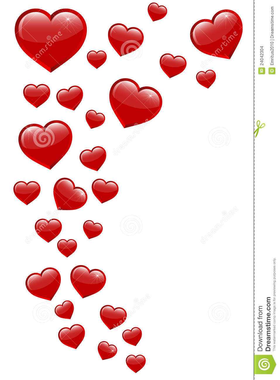 Flying Hearts Stock Images - Image: 24042304