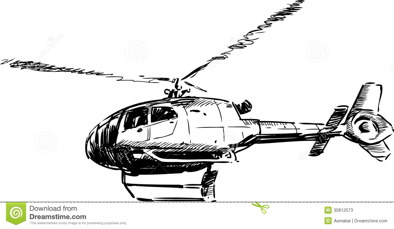 Cool Helicopter Drawing