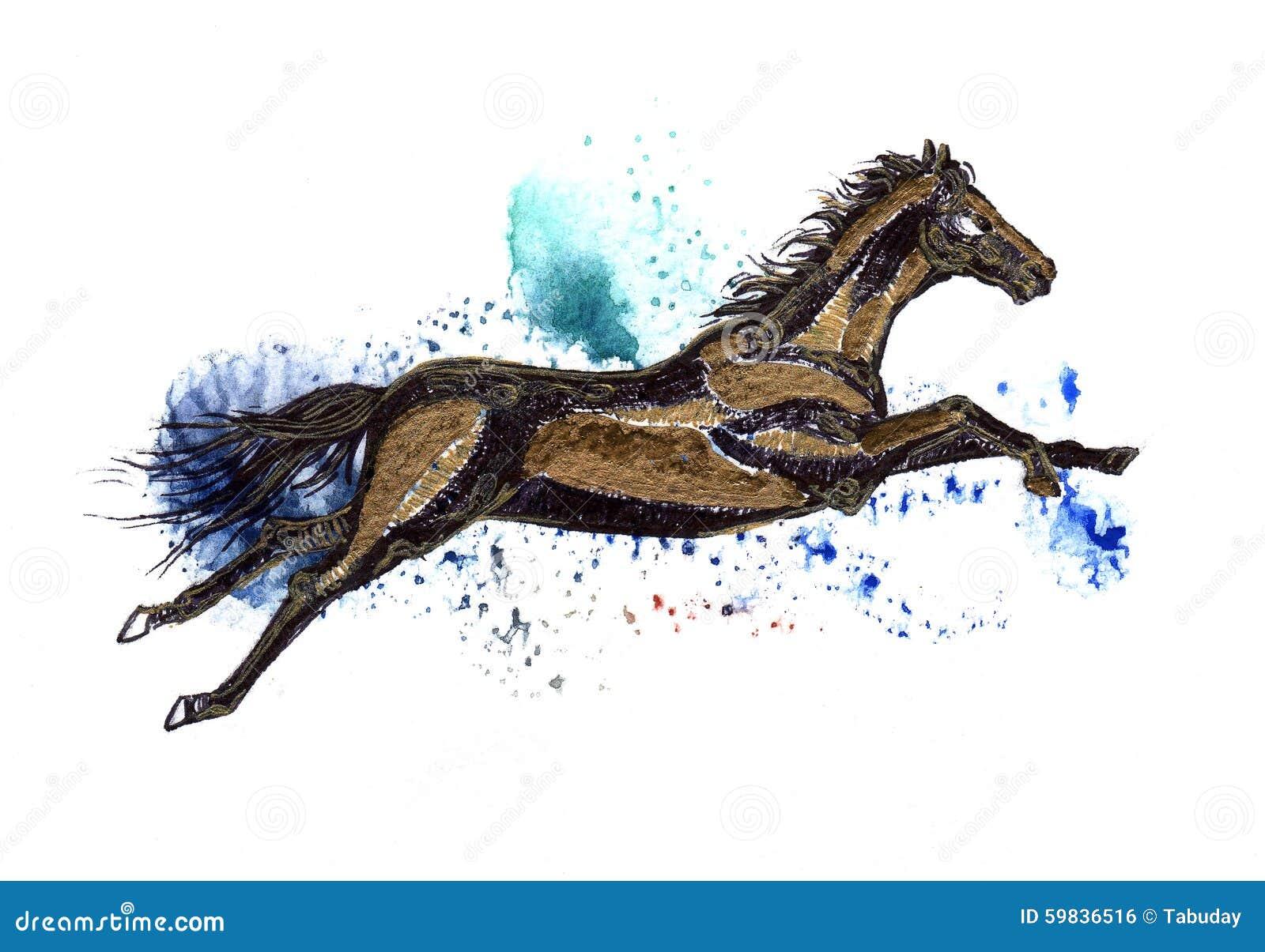 Flying Horse Stock Illustration Illustration Of Motion 59836516