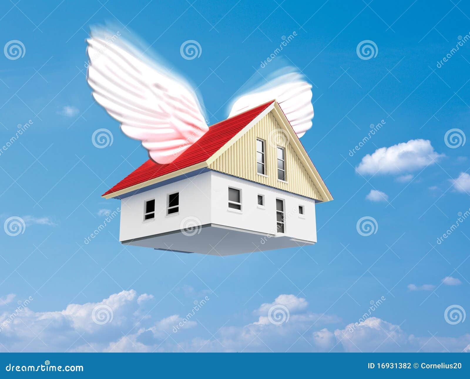 Flying house stock illustration illustration of flying for Flying haus