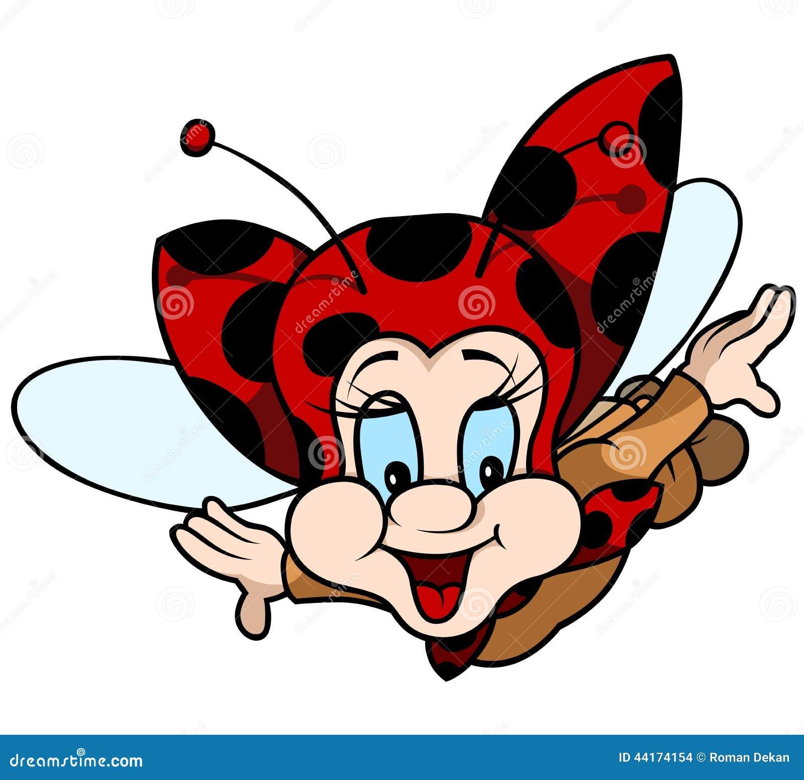 isolated flying ladybug royalty free stock image image 10871136