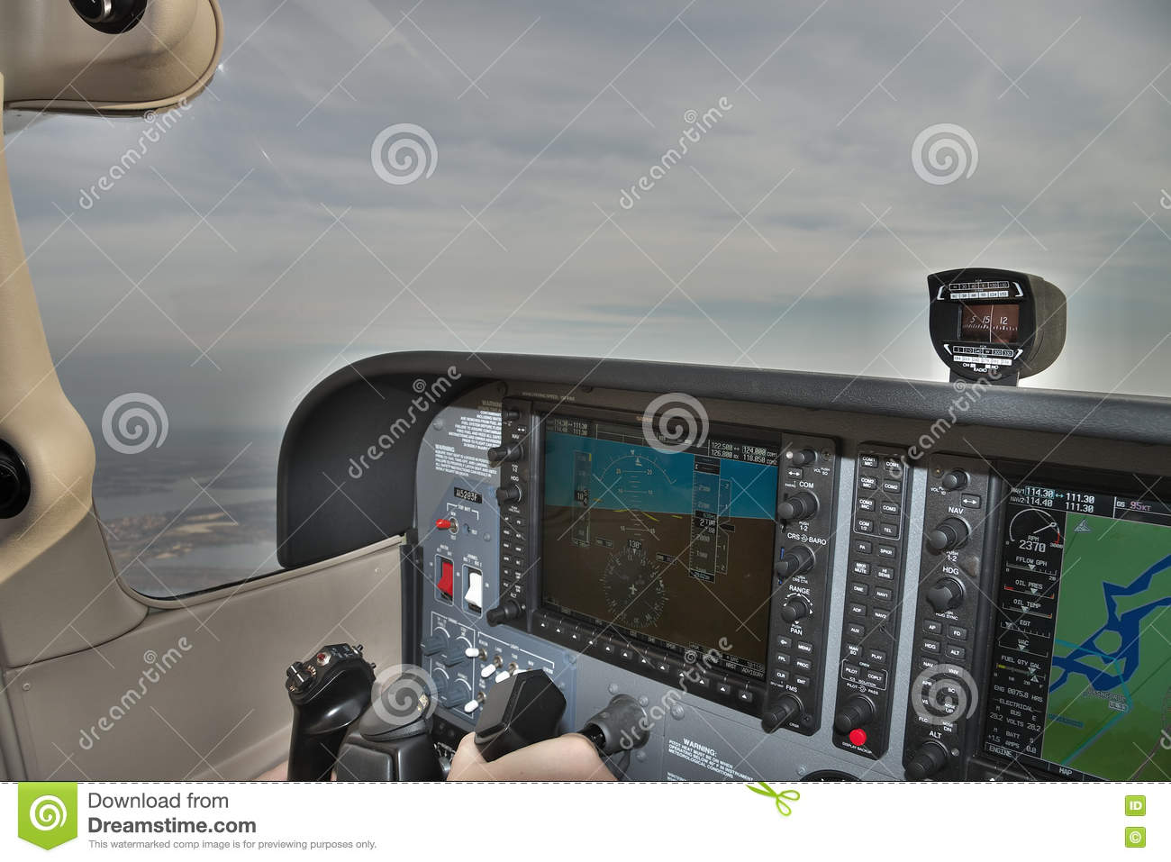 Flying a light plane editorial photo  Image of interior