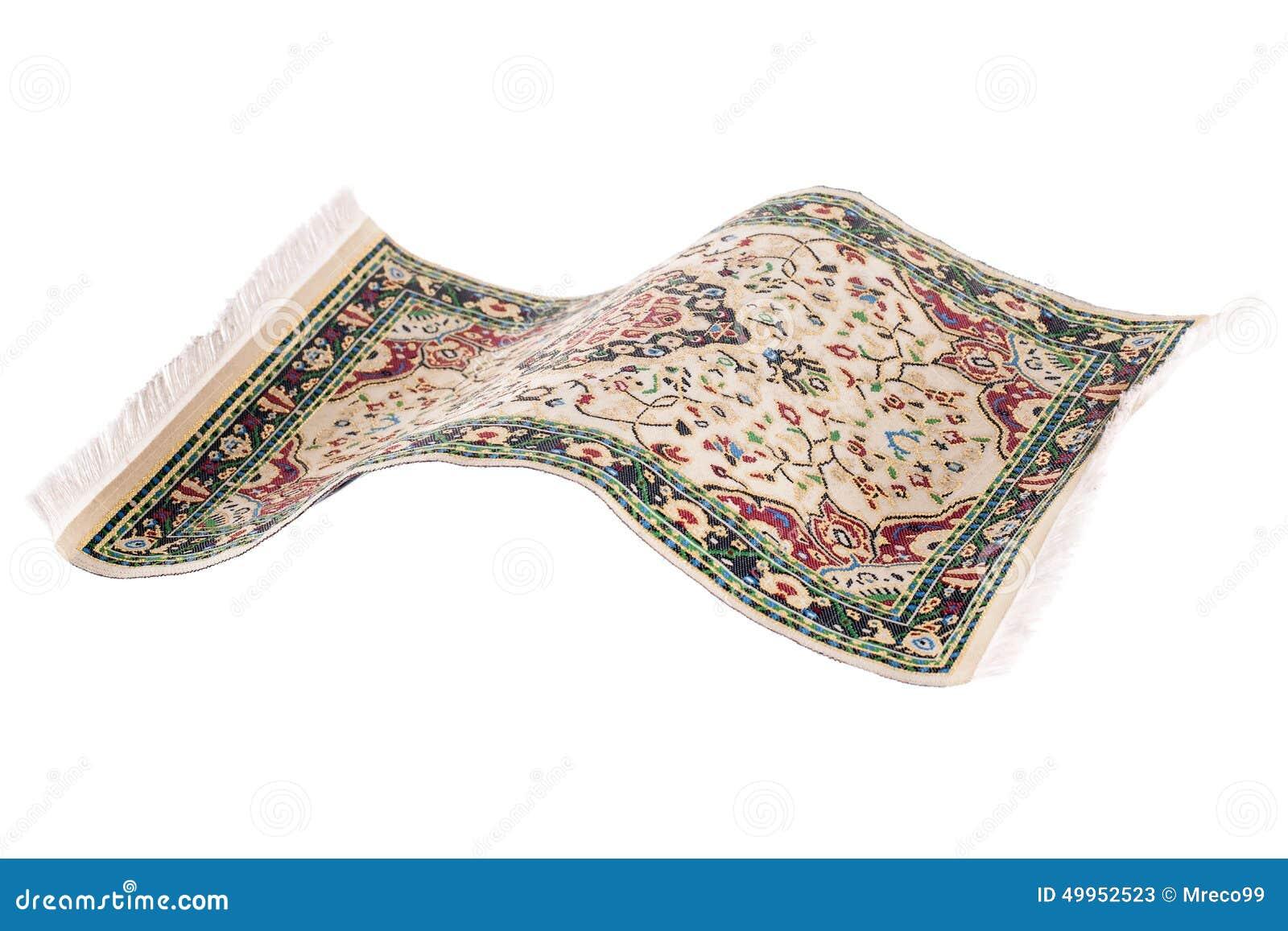 Flying Magic Carpet Isolated Stock Photo Image 49952523