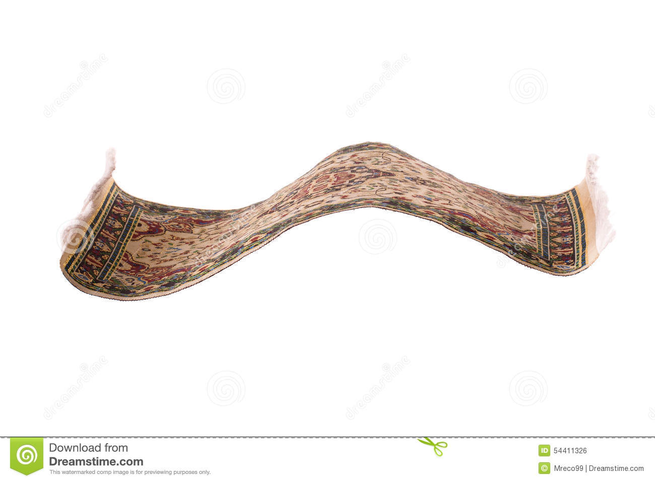 Flying Magic Carpet Isolated Stock Photo Image 54411326