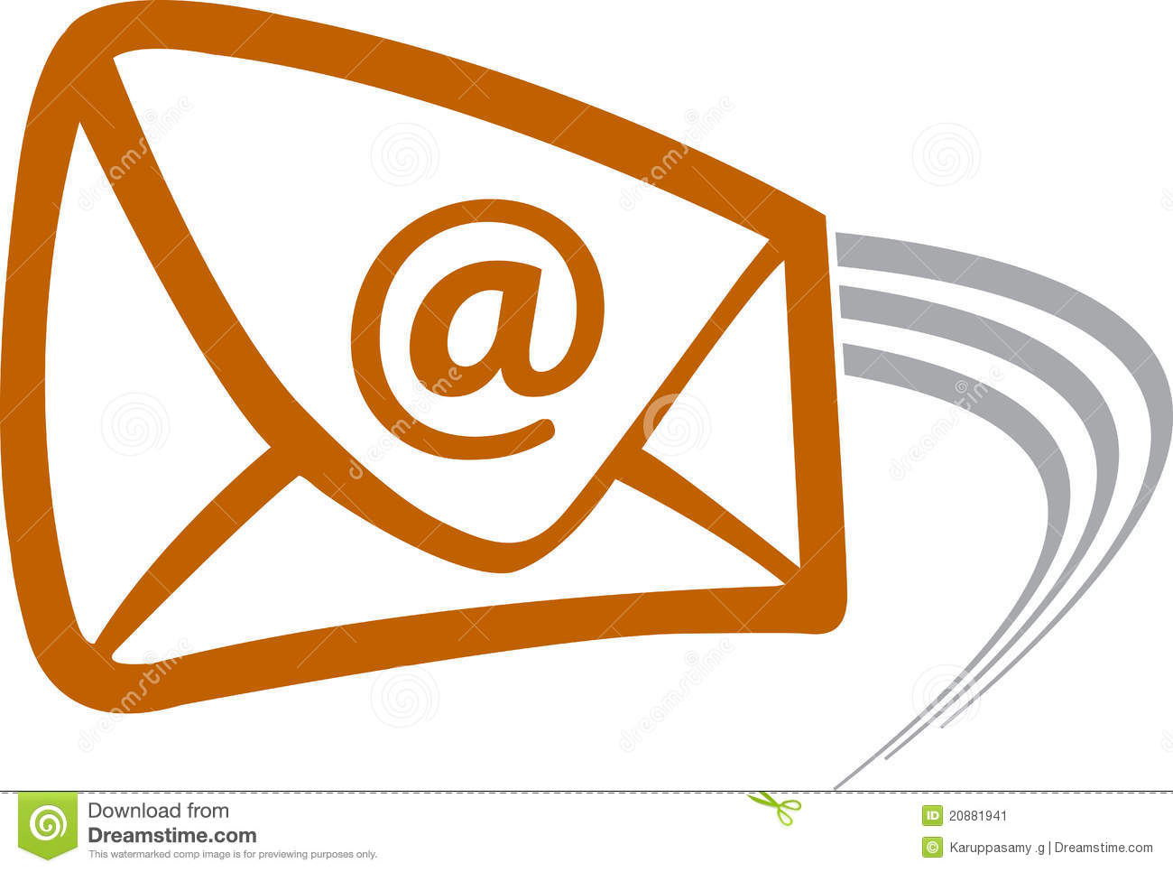 Illustration art of a flying mail with isolated background.