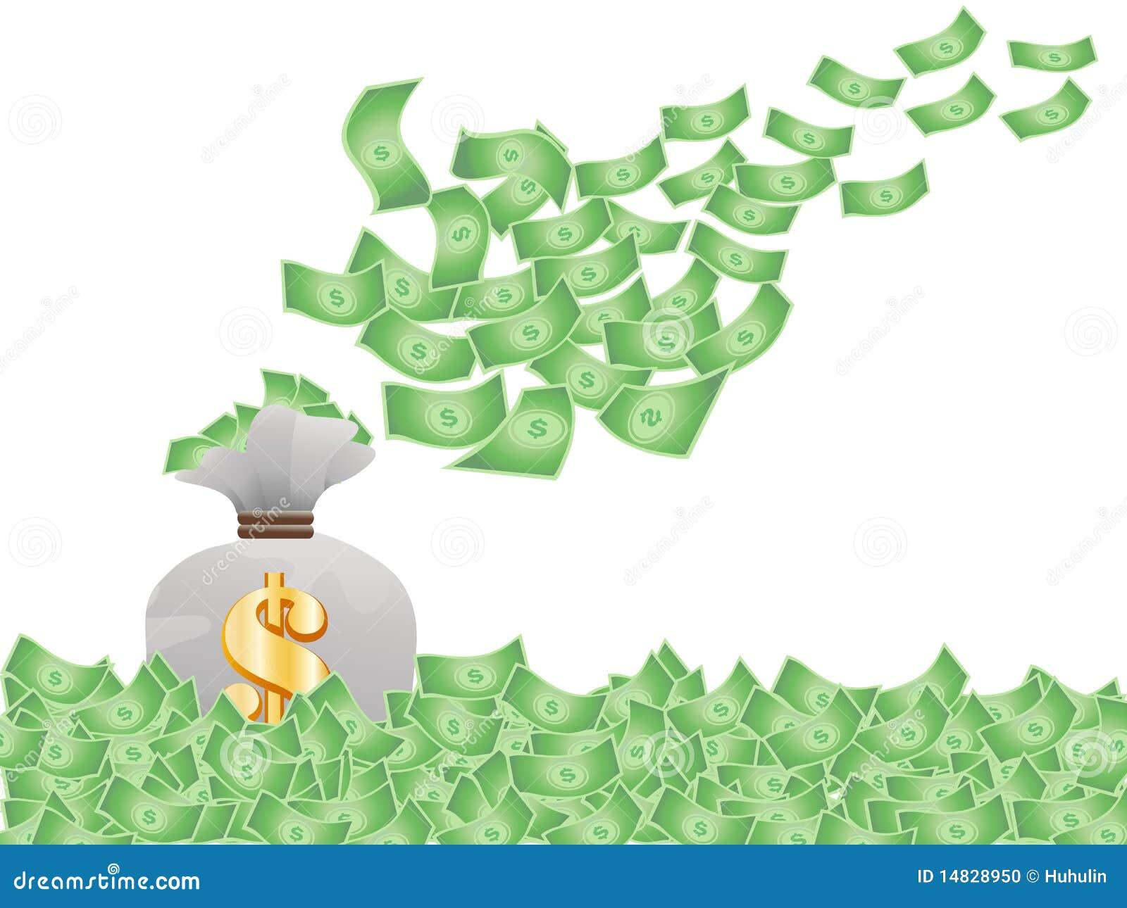Flying Money Stock Pho...