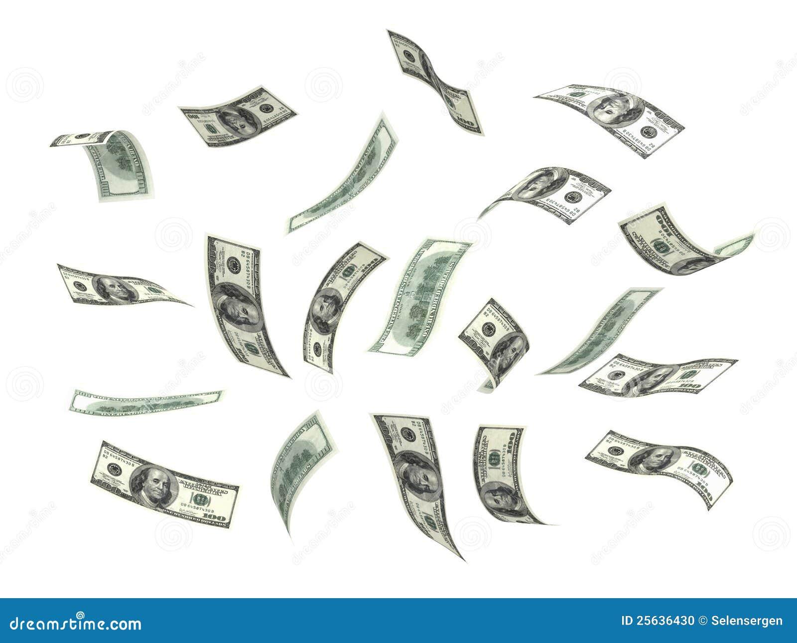 Flying Money Dollar Stock Photo Image 25636430