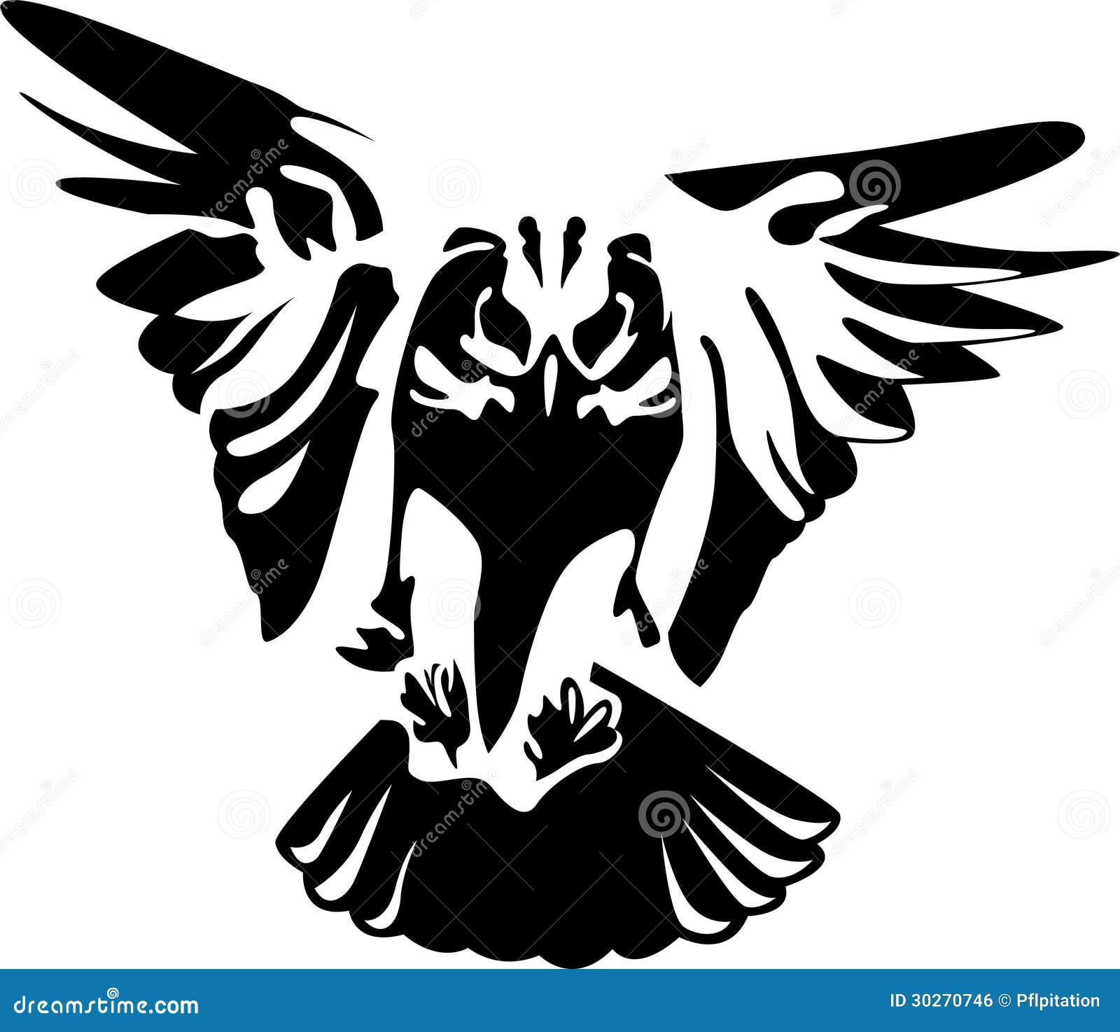 Flying owl stencil - photo#19