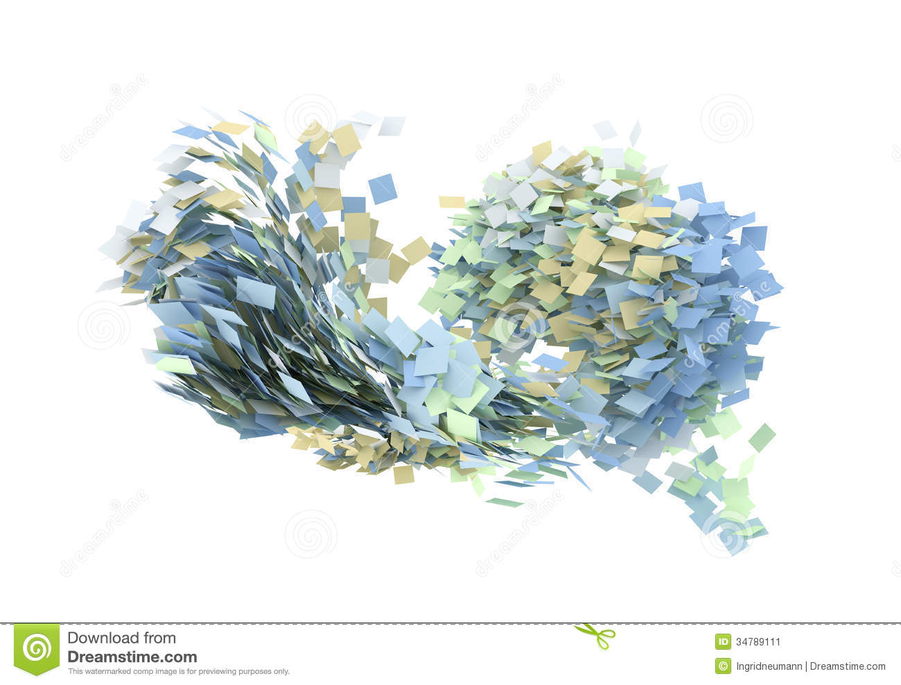 flying paper sheets  flying pages stock illustration