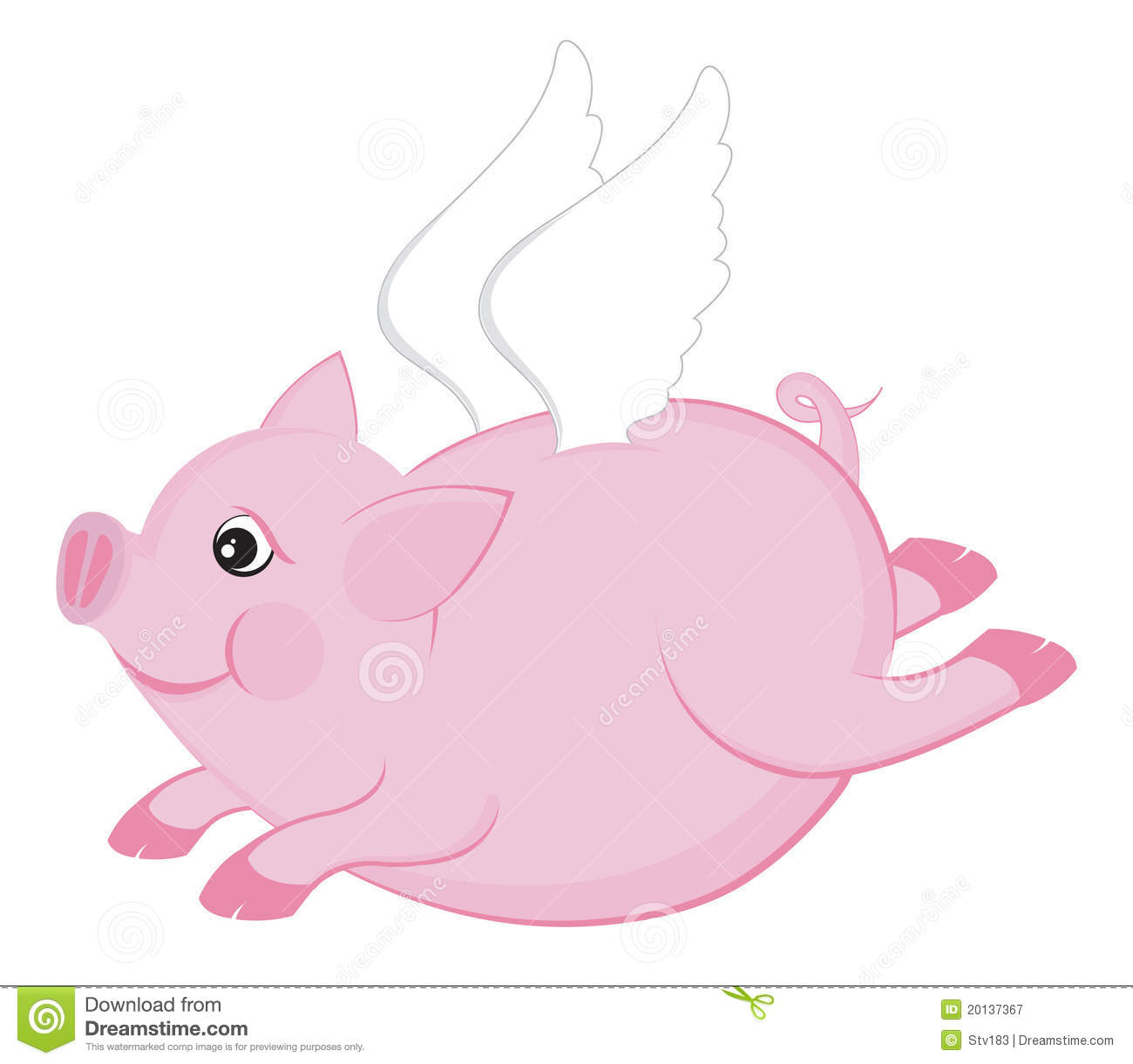 Flying Pig Royalty Free Stock Photography - Image: 20137367