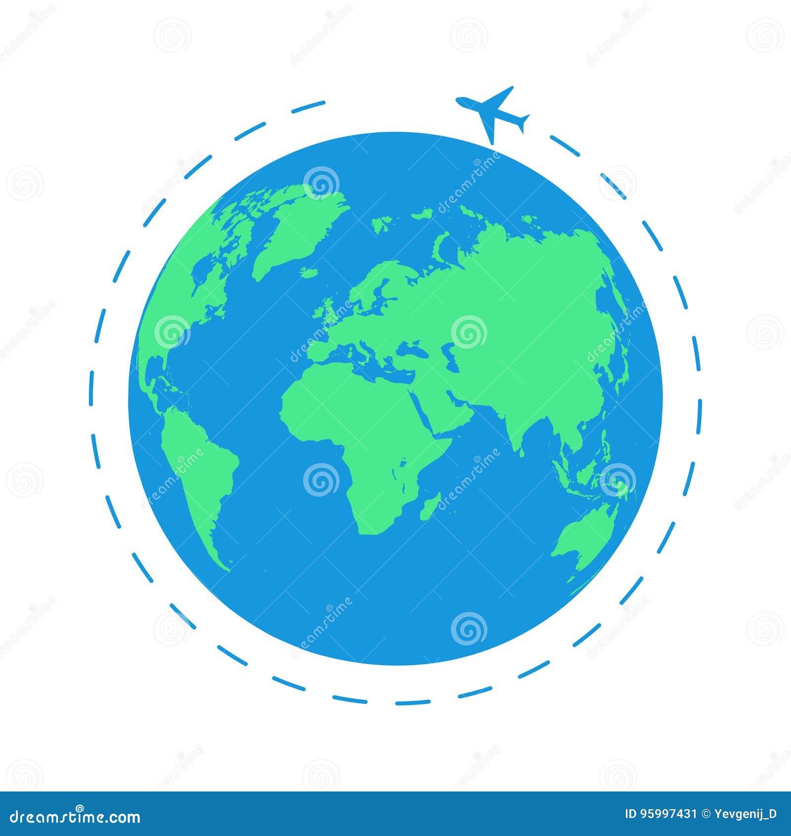 Flying Plane Around The World The Path Plane Airplane