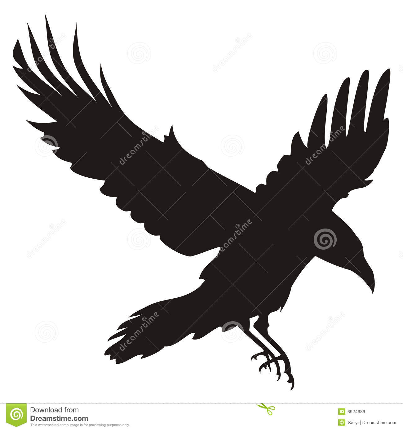 Flying Raven Royalty Free Stock Images - Image: 6924989