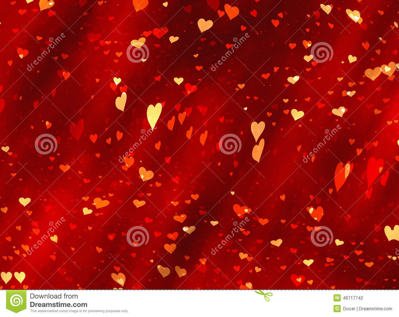 Flying Red Hearts Backgrounds Of Valentine's Day. Love
