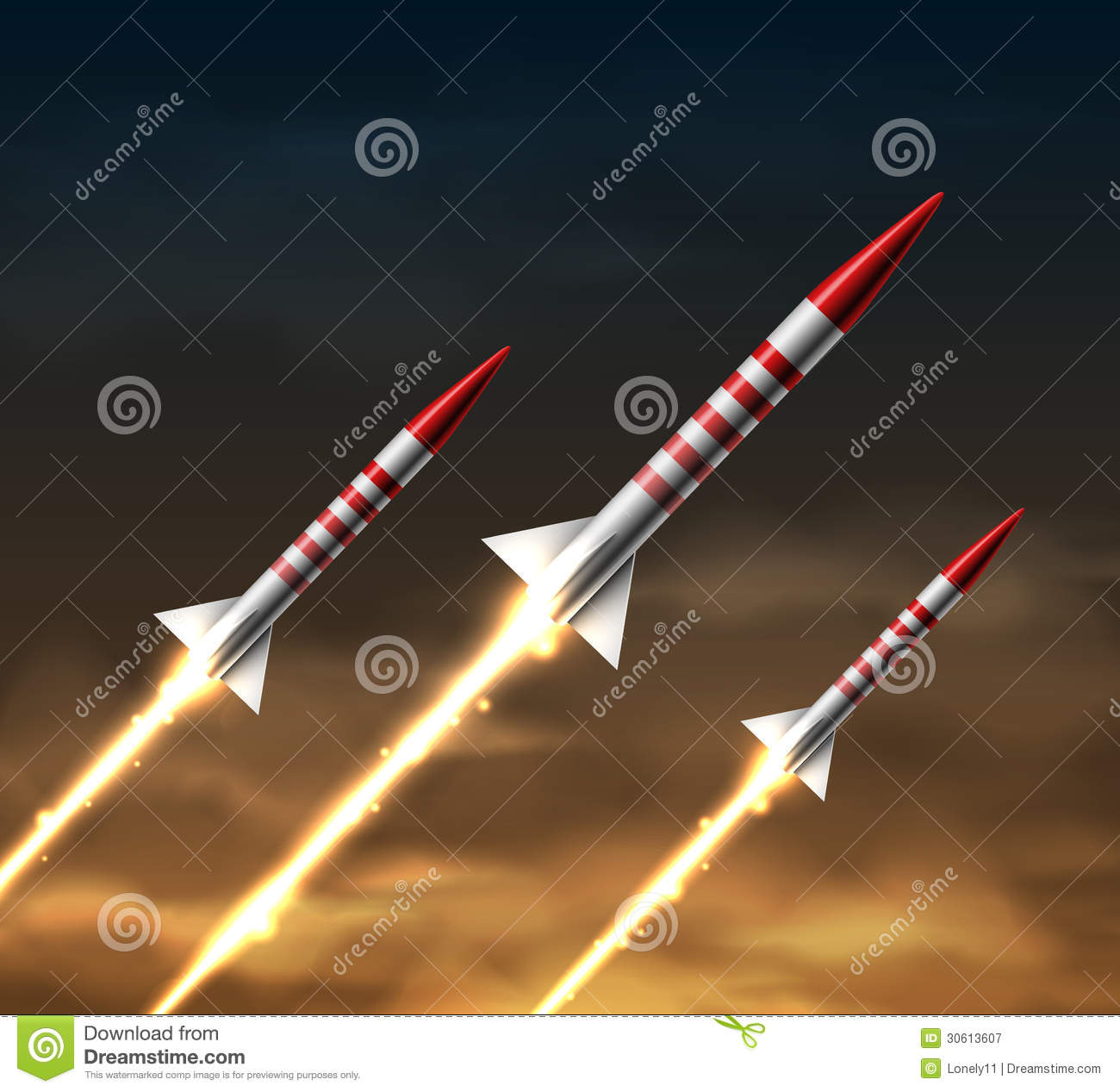 Flying Rockets Royalty Free Stock Photography