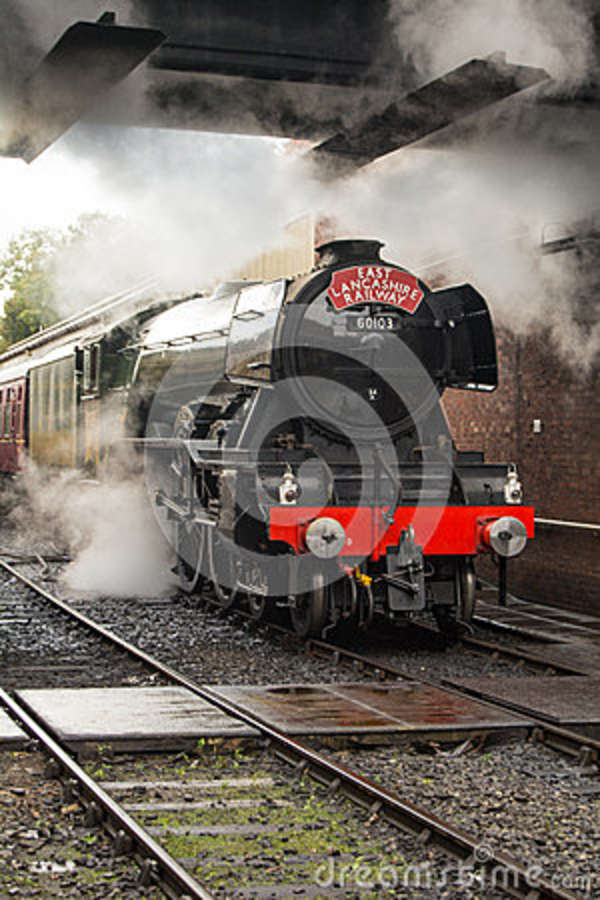 The Flying Scotsman at Bury Station