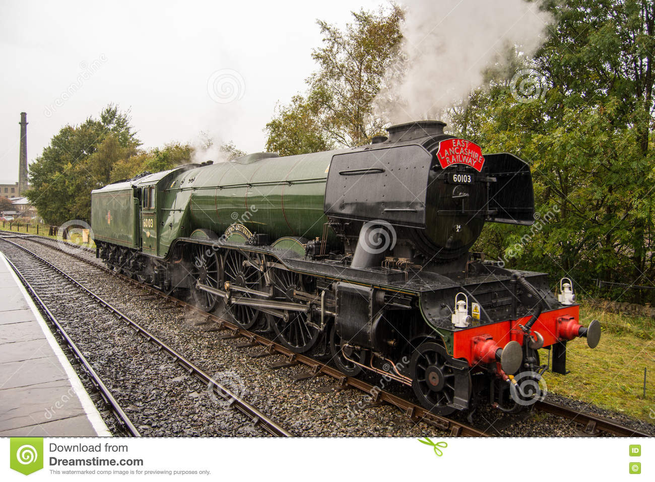 The Flying Scotsman at Ramsbottom Station