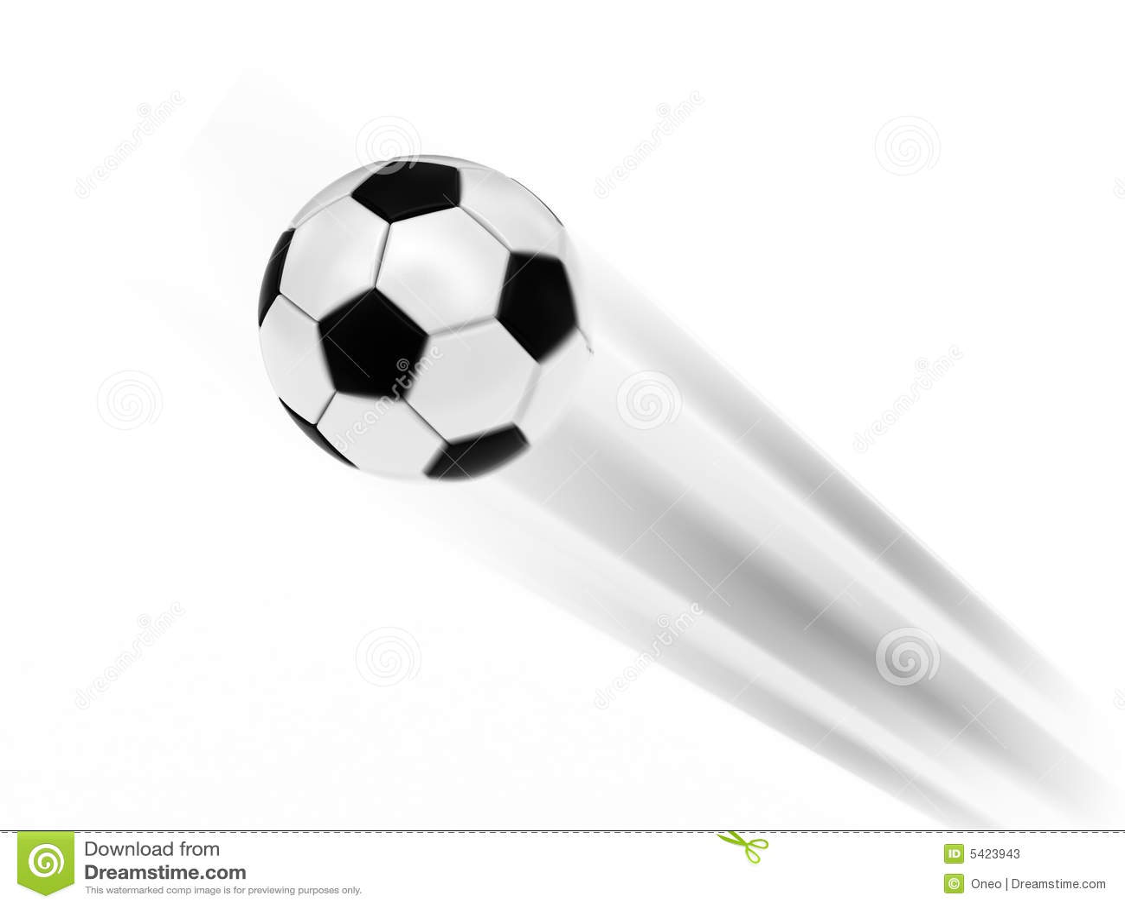 Flying Soccer Ball Stock Illustration Image Of