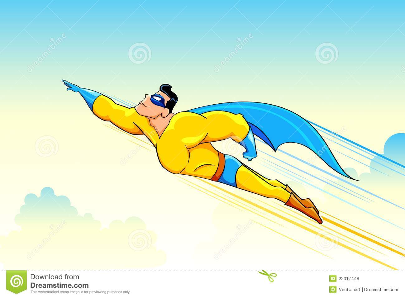 Flying Superhero Royalty Free Stock Photos  Image: 22317448