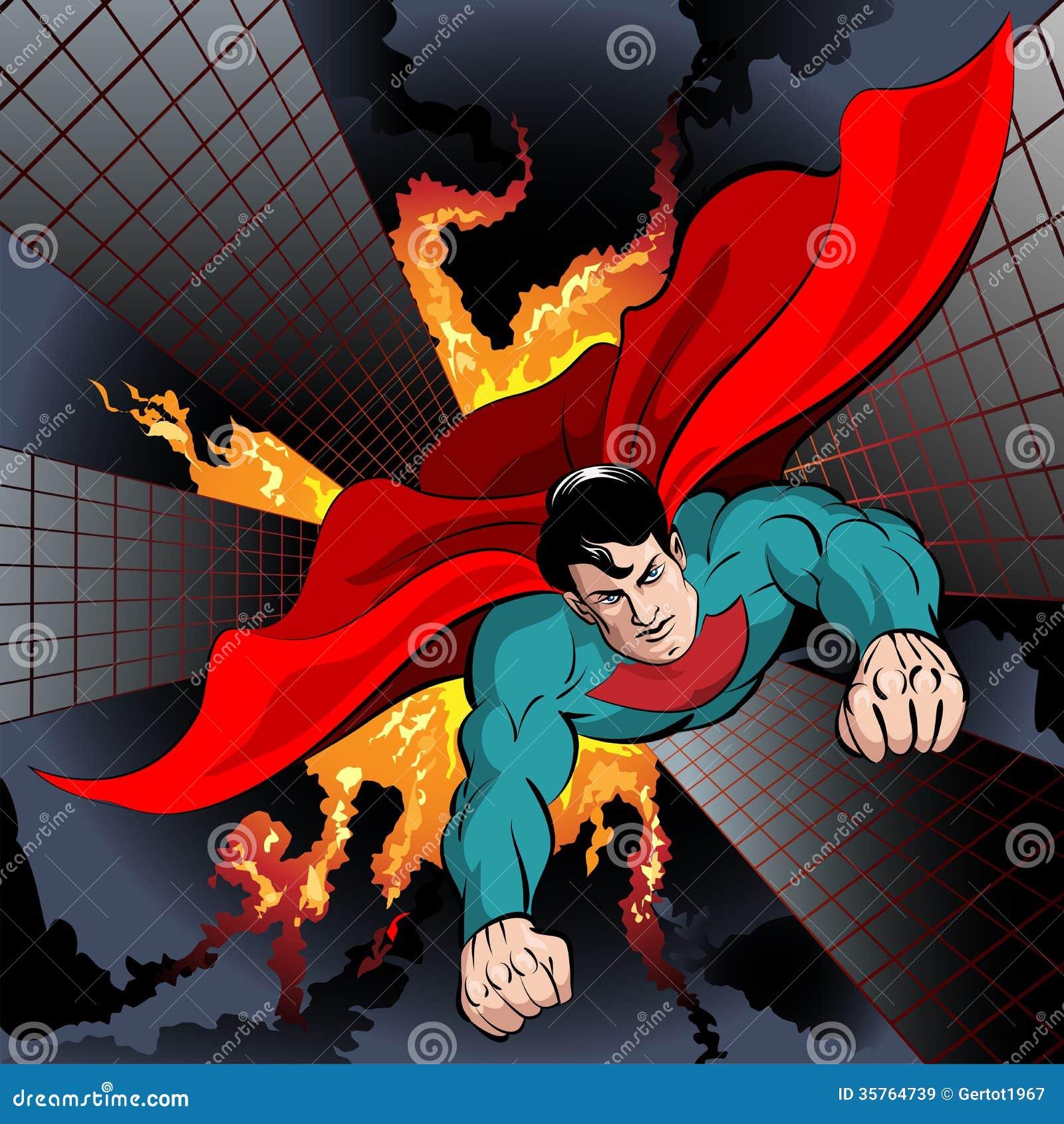 flying superhero stock vector illustration of character 35764739
