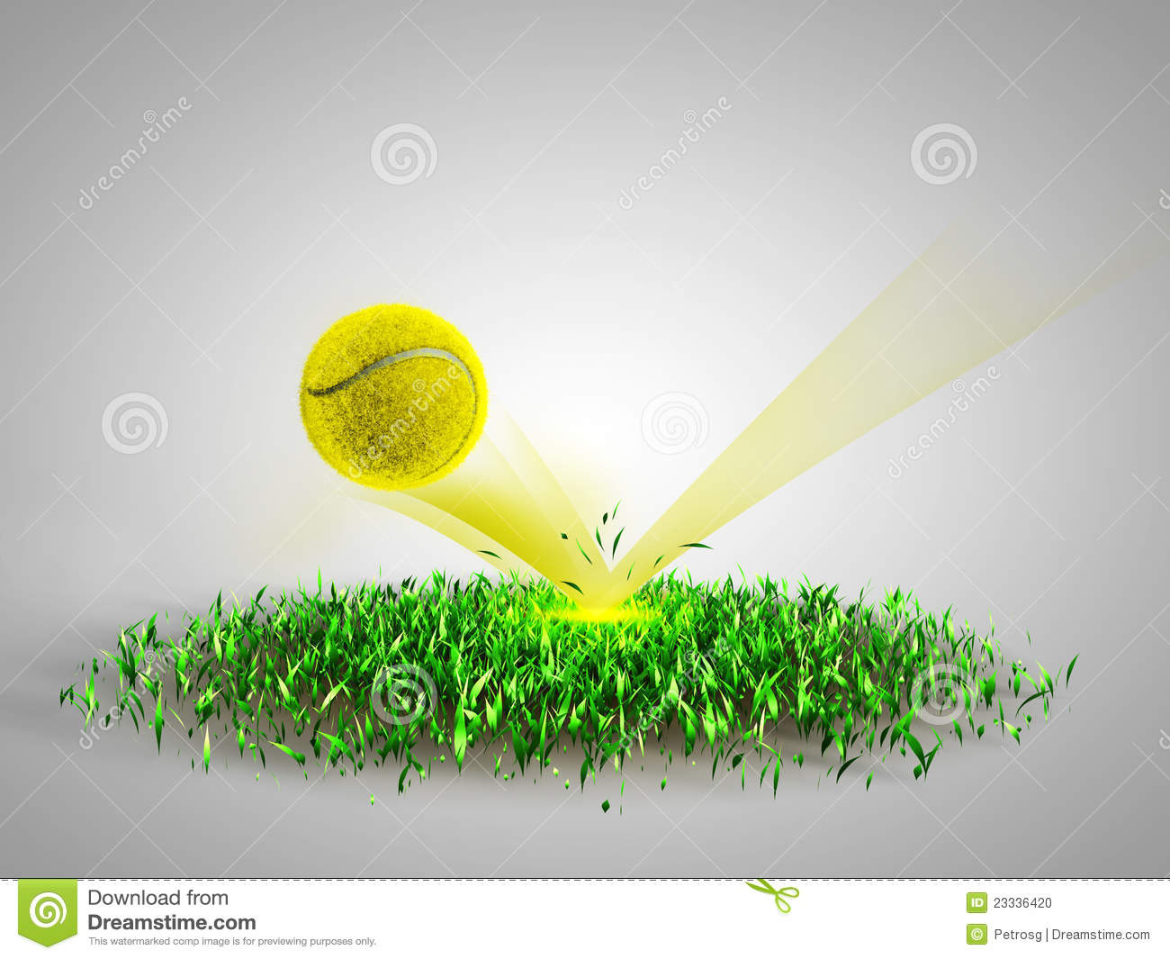 Flying Tennis Ball Scores Stock Illustration Illustration Of Flying