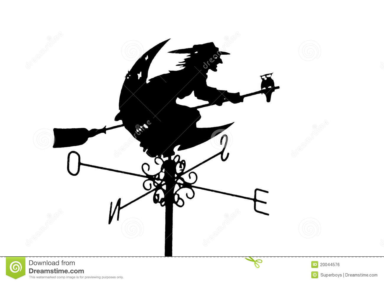Flying witch on sky stock photo  Image of spell, woman - 20044576