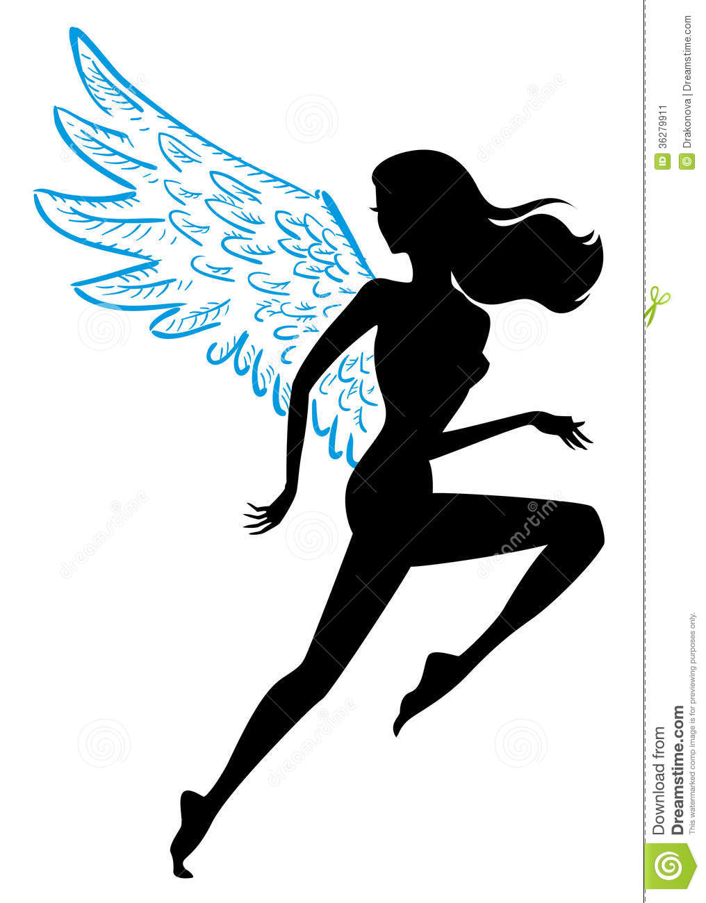 Flying Woman Stock Vector. Image Of Athletic, Freedom ...