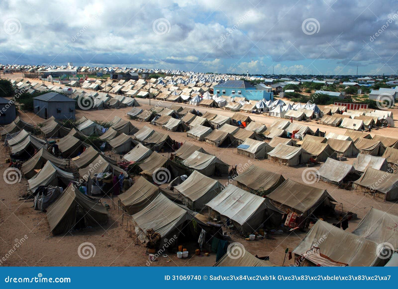 Flyktingläger i Mogadishu