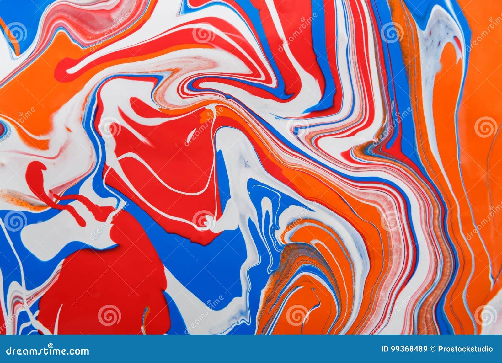 Flytande som marmorerar bakgrund för akrylmålarfärg Fluid målningabstrakt begrepptextur