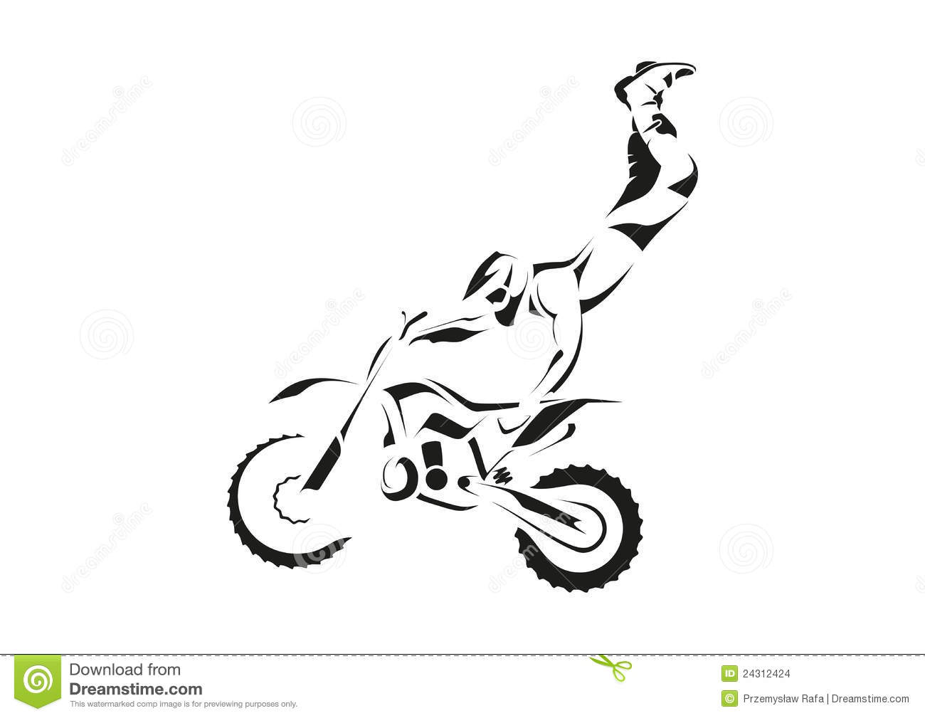 FMX Trick Heart Attack Stock Images Image 24312424