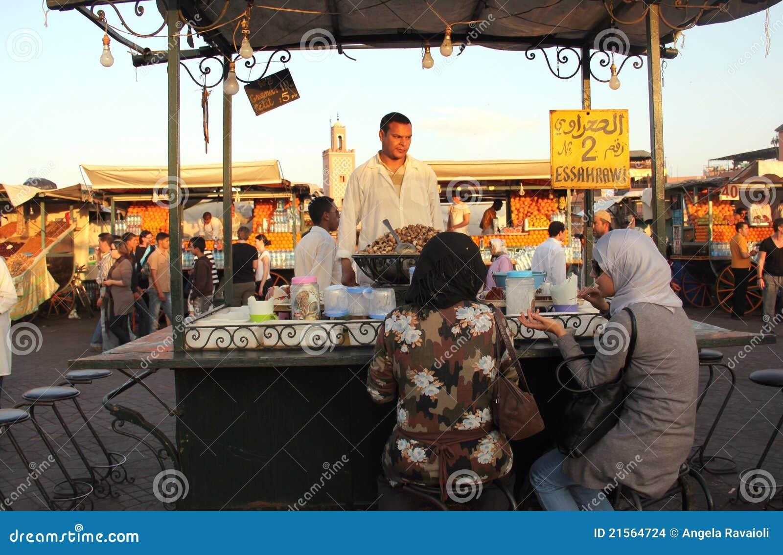 Fnaa van Djem Gr van het plein in Marrakech