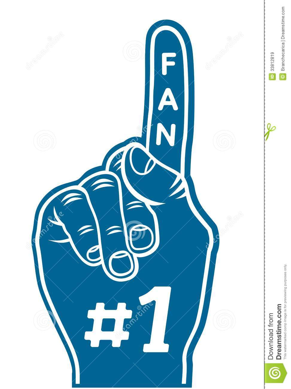 Foam Finger - Fan Finger Royalty Free Stock Images - Image: 33812819