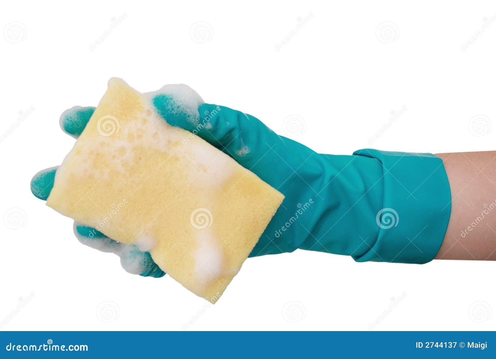 Foamy cleaning sponge