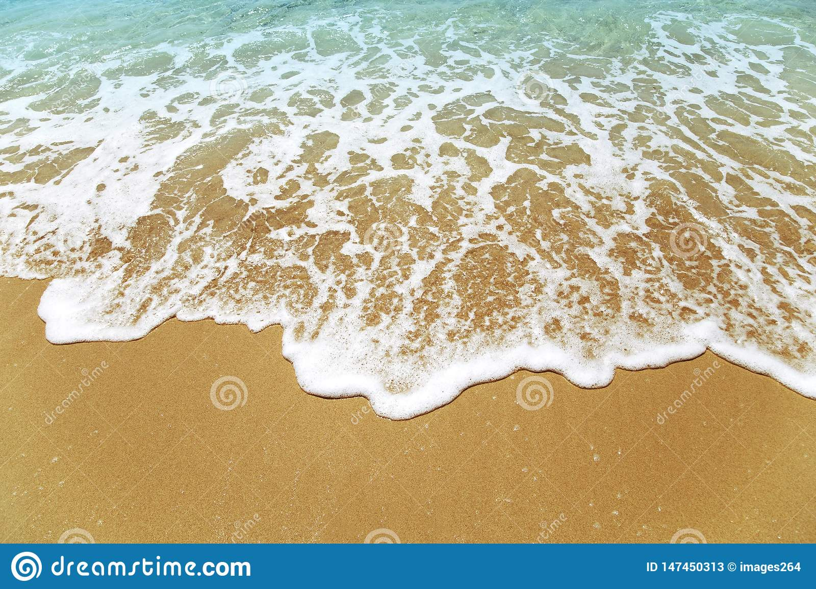 Waves on a beach