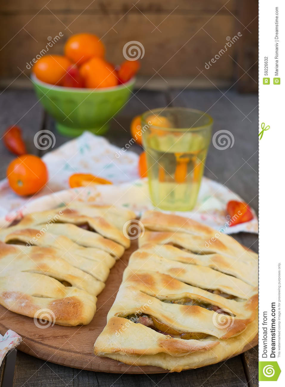 ... similar stock images of ` Focaccia with blue cheese, pear and bacon