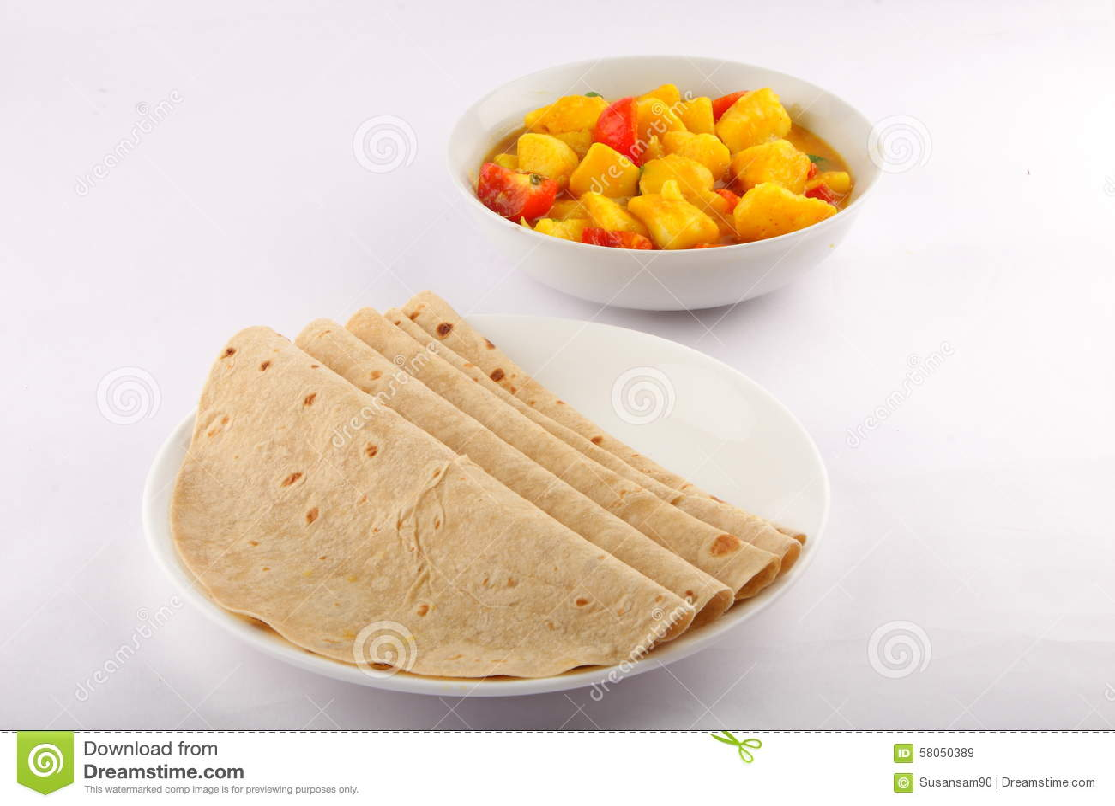 Focaccia con curry di verdure