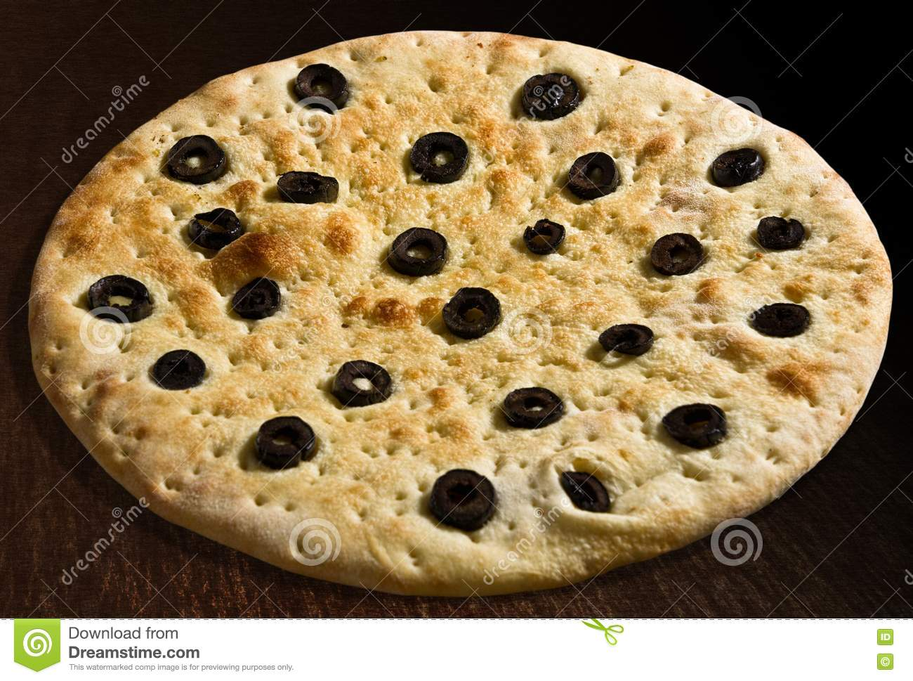 Focaccia With Olives Royalty Free Stock Image - Image: 24527096