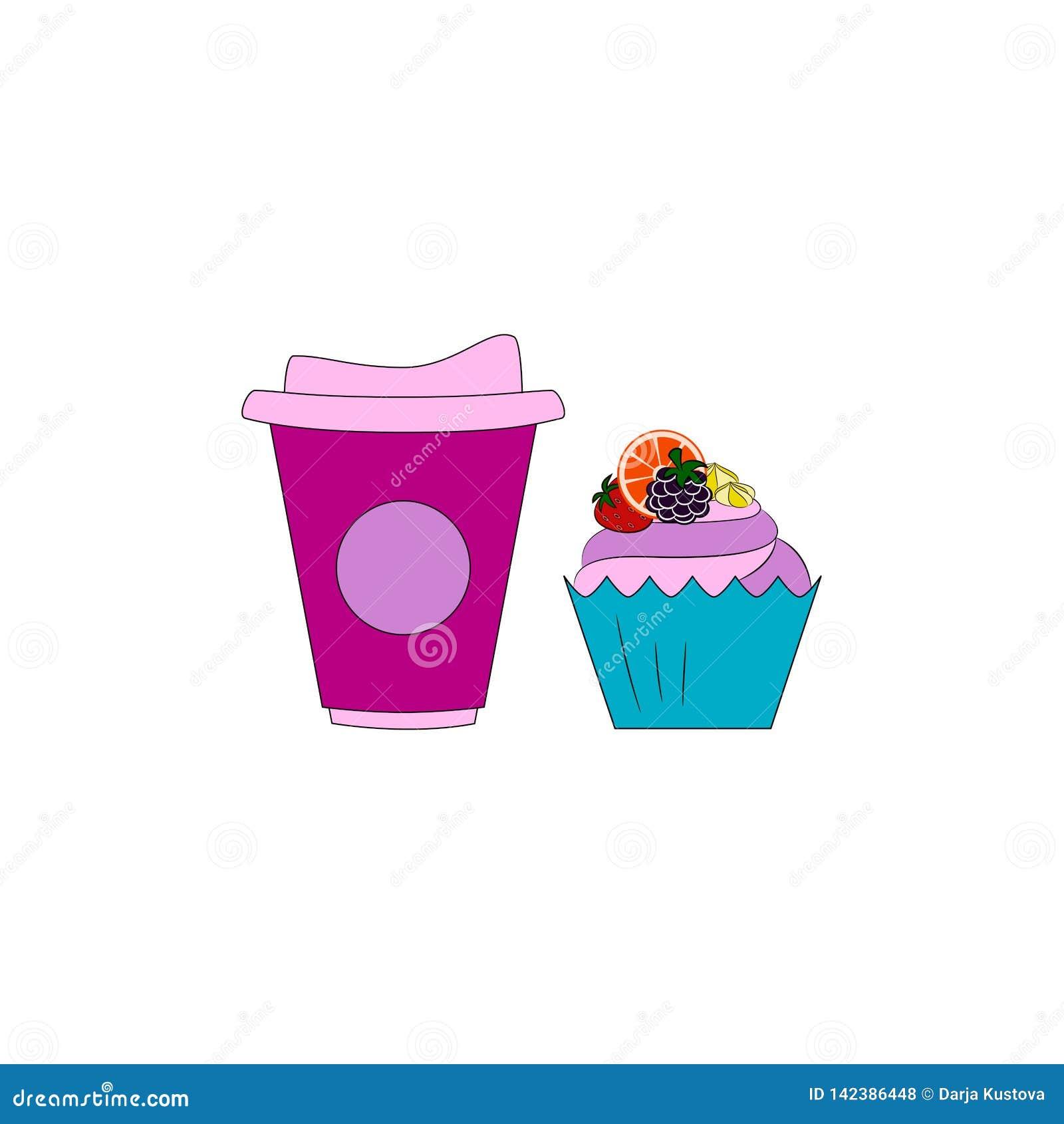 Focaccina con crema e frutta Caffè o tè con il dessert