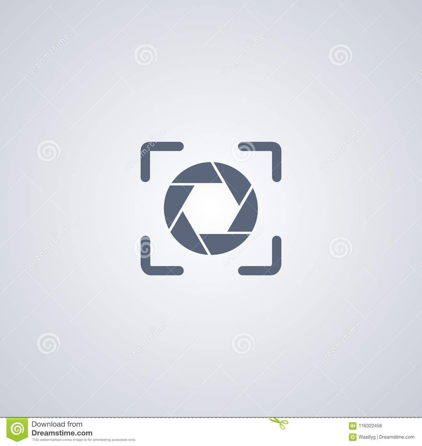 Focalisez, focal, la meilleure icône plate de vecteur
