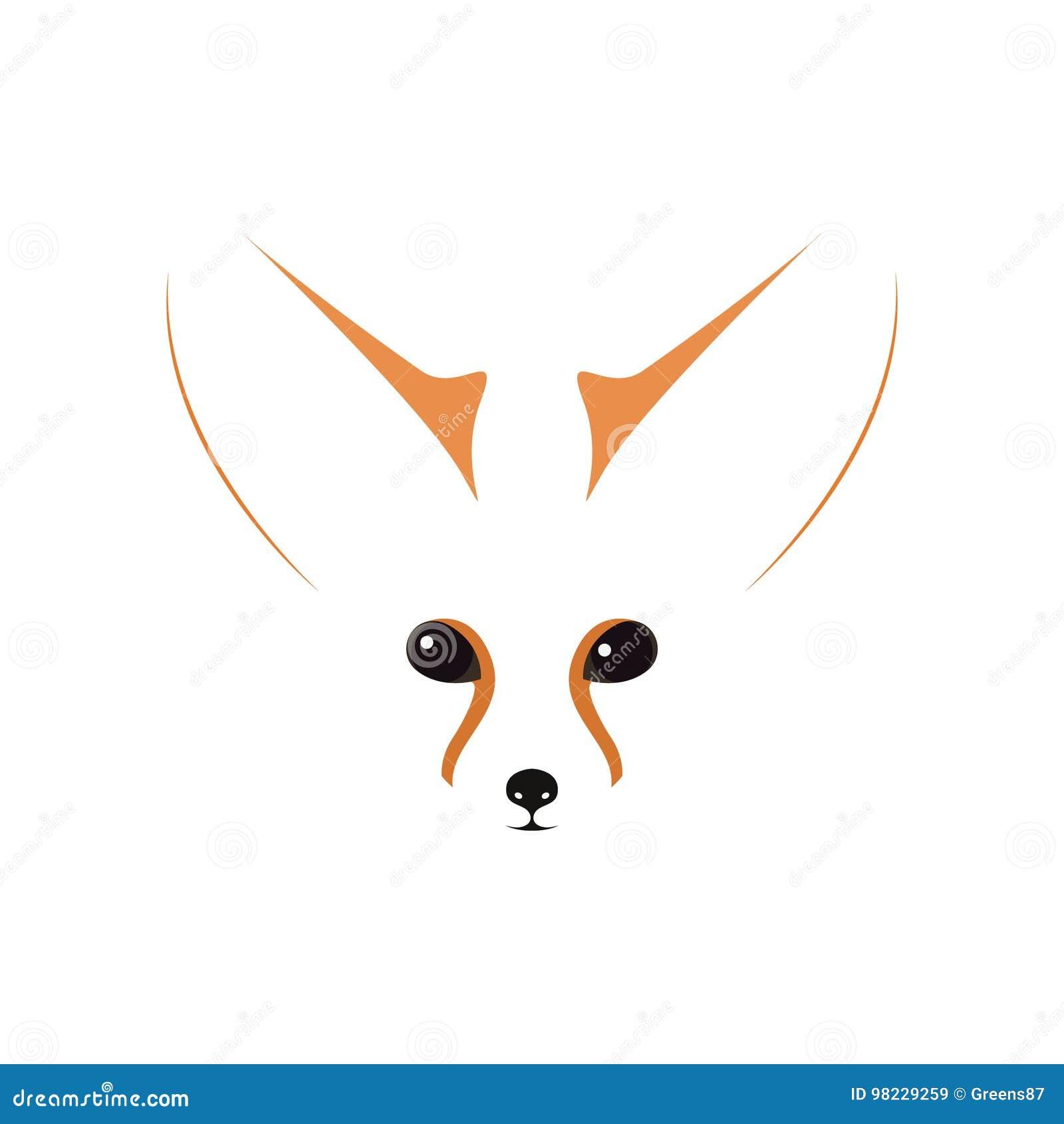 Focinho, olhos e orelhas de Fennec