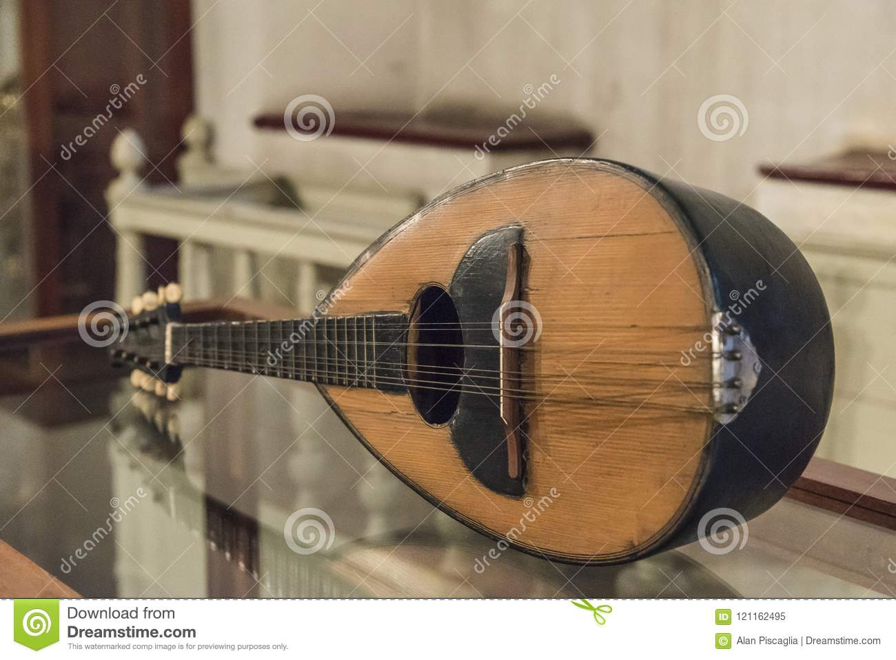 Ancient Mandolin Instrument Stock Image - Image of antique