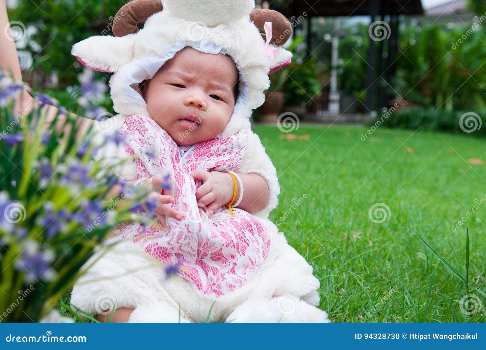 Asian baby crumple paper