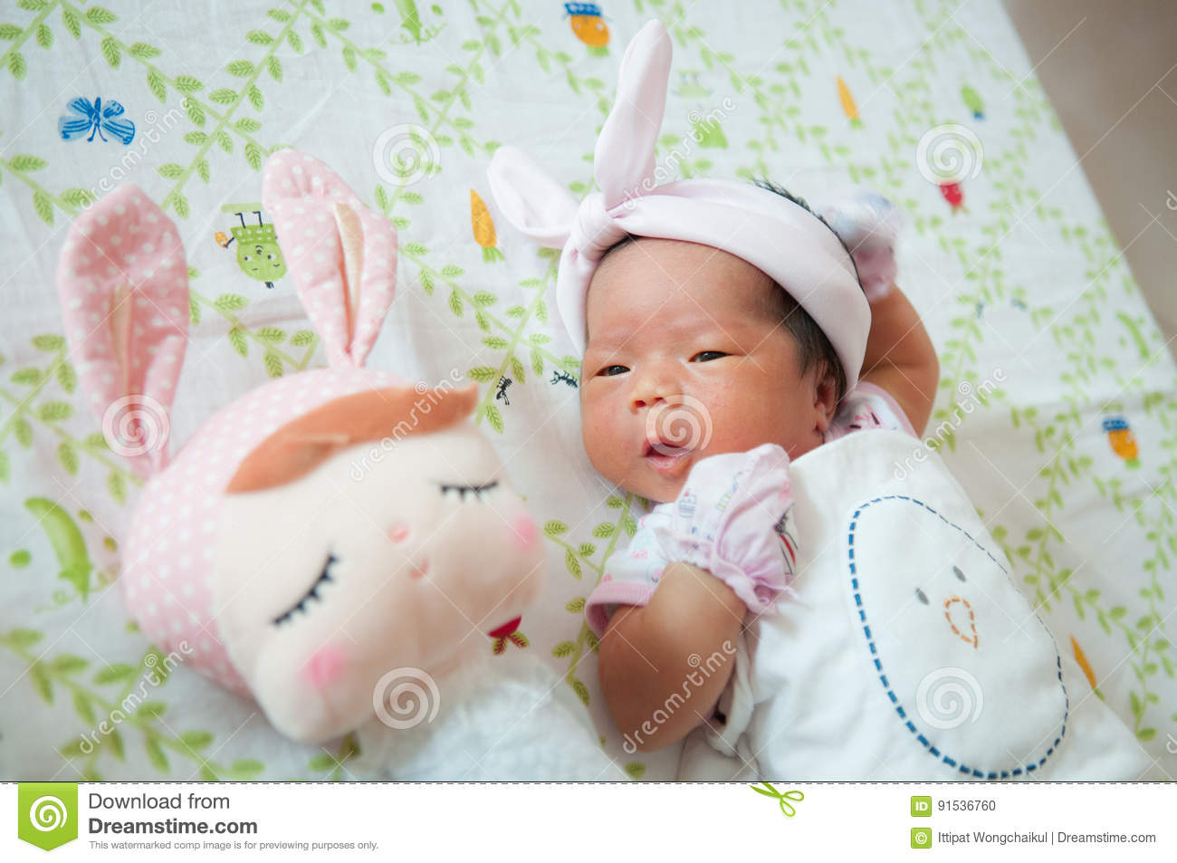 Focus At Baby Girl With Nice Headband While Snoozing And Playing A Newborn Can Feel Small Fragile Learn How To Care For Your Find Out What Do If Has Colic Jaundice Or An Umbilical
