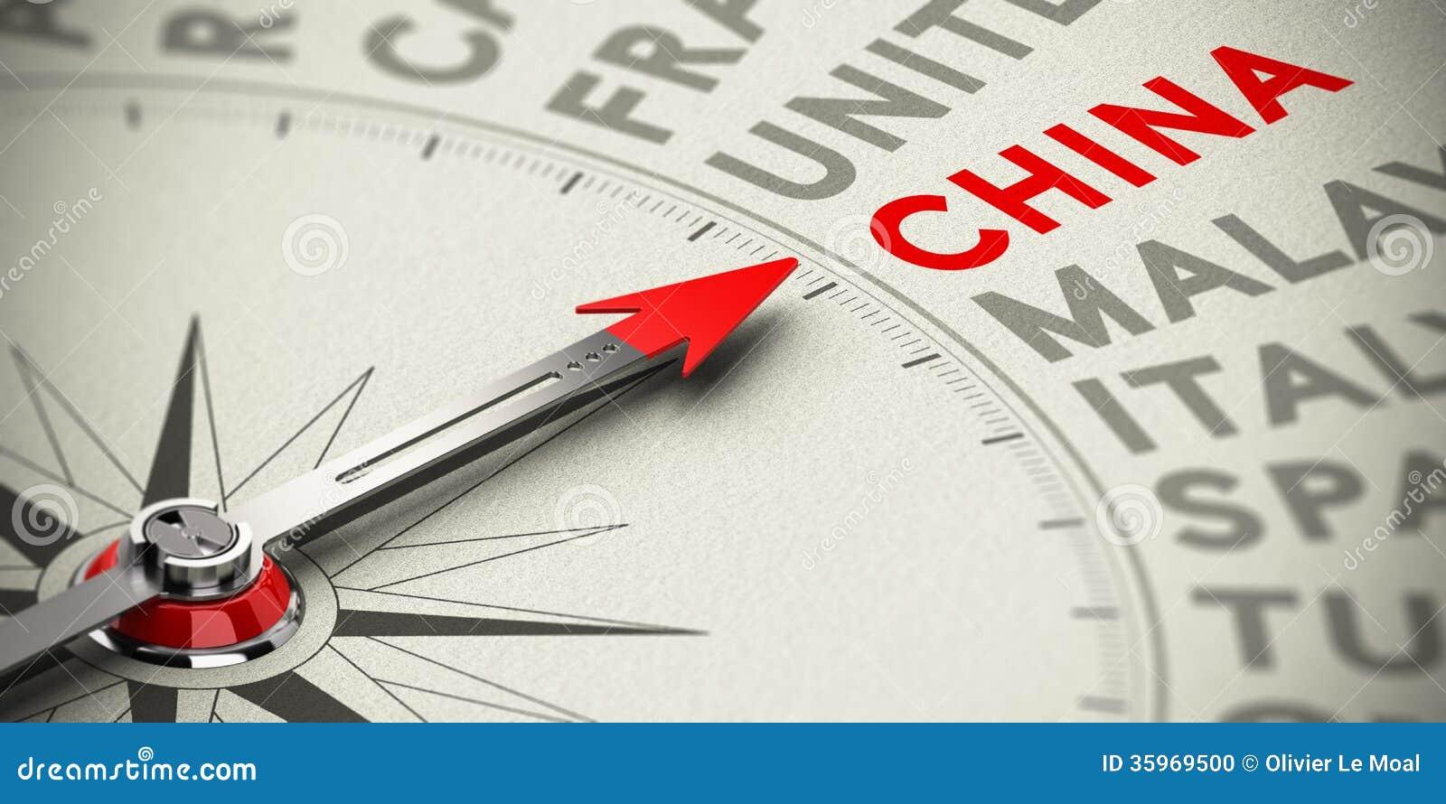 Focus on China - Concept stock illustration. Illustration ...