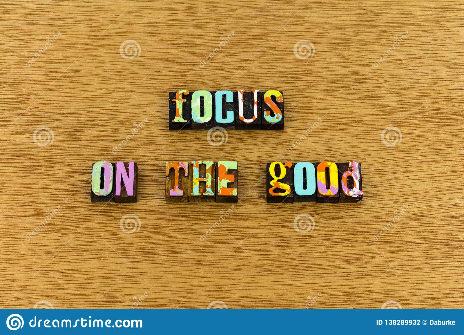 Focus good help kind joy healthy typography