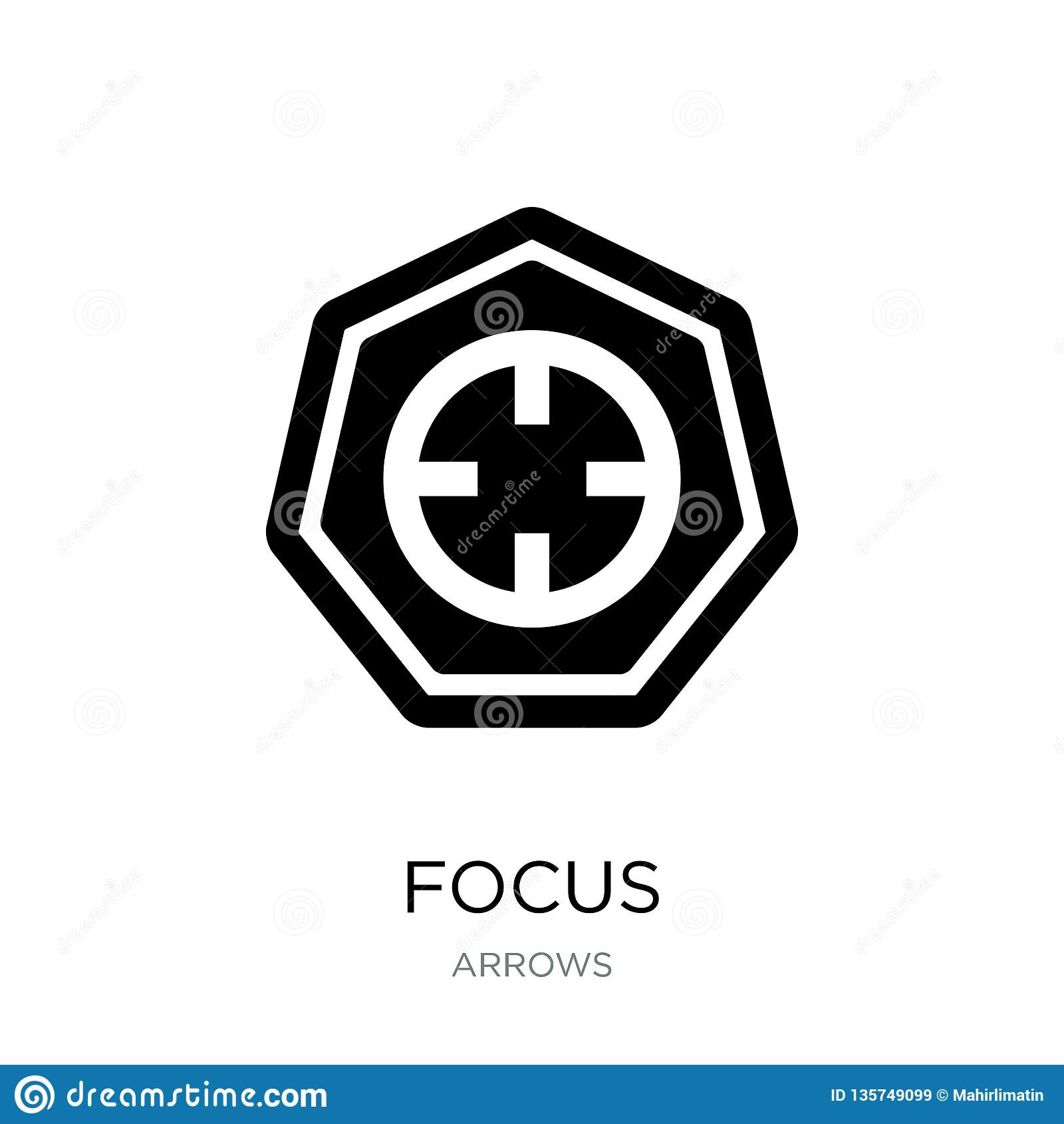 focus icon in trendy design style. focus icon isolated on white background. focus vector icon simple and modern flat symbol for