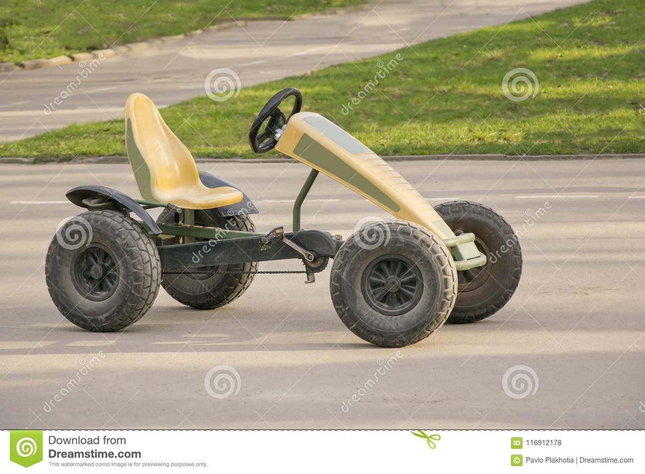 Small Car With Pair Of Pedals And Chain On Gears Stock Photo Image