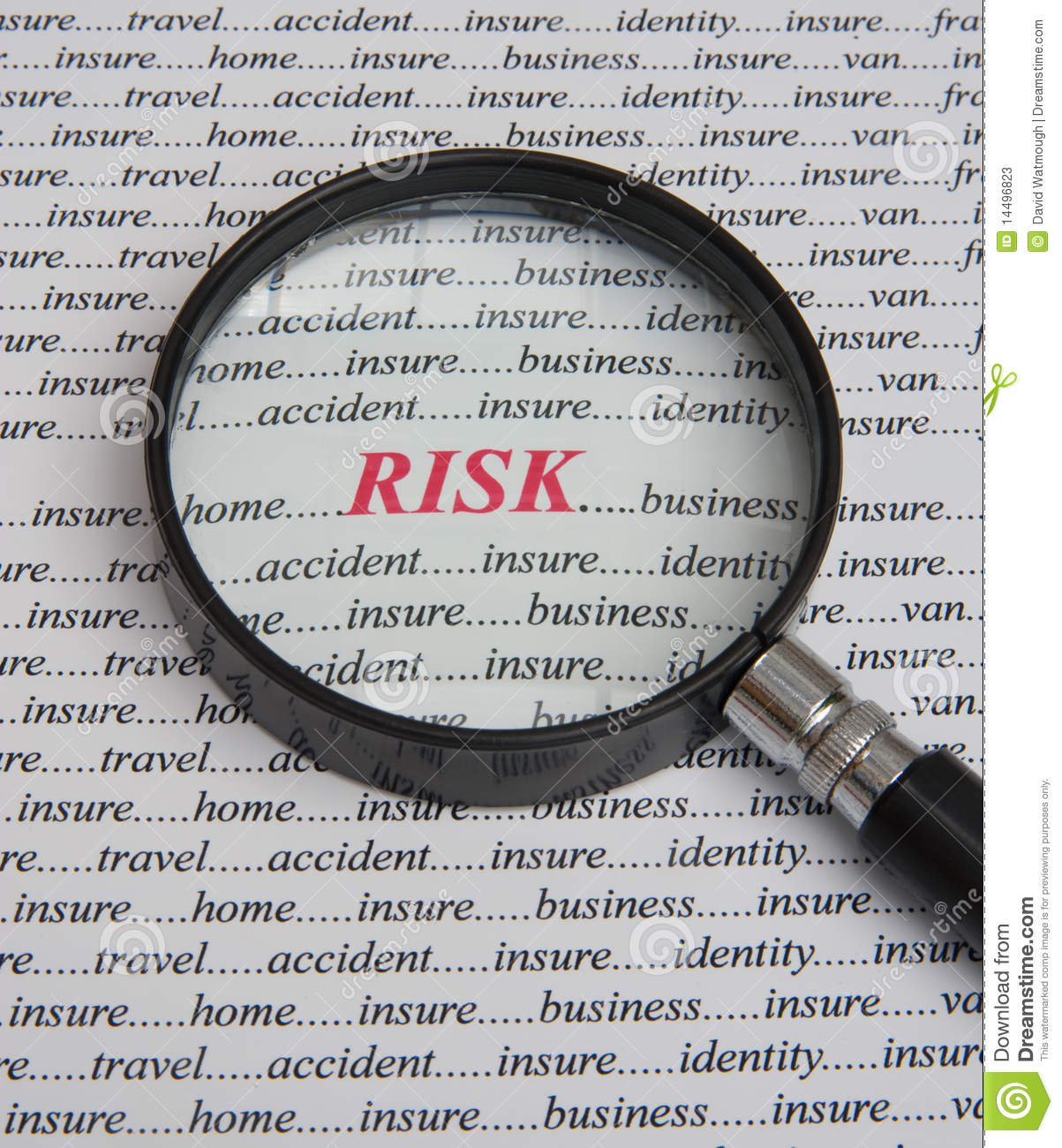Focus on risk: it pays to insure.