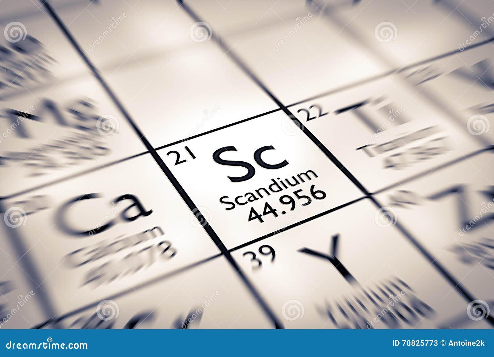 Focus on scandium chemical element stock illustration image focus on scandium chemical element gamestrikefo Images