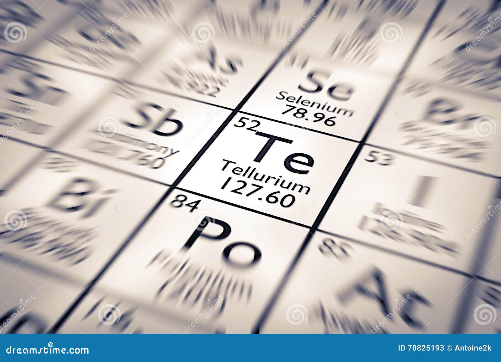 Focus On Tellurium Chemical Element Stock Illustration